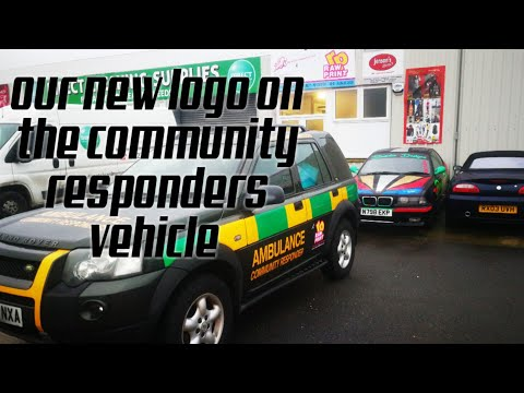Our new logo on community responders vehicle