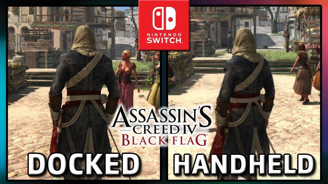 Assassin's Creed IV: Black Flag | Docked VS Handheld | Frame Rate TEST on Nintendo Switch