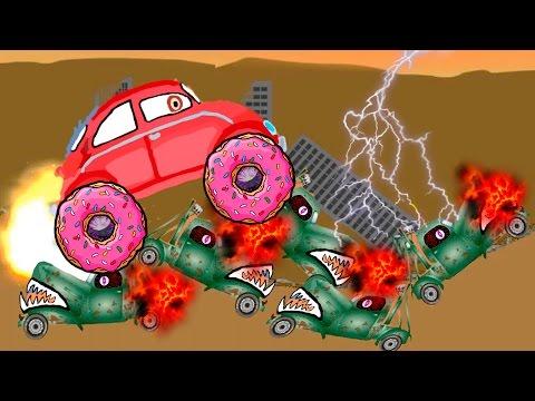 Машина Ест Машину - Хищные Машины - ИГРА как мультик - Для детей - 1 часть - Серия 3#