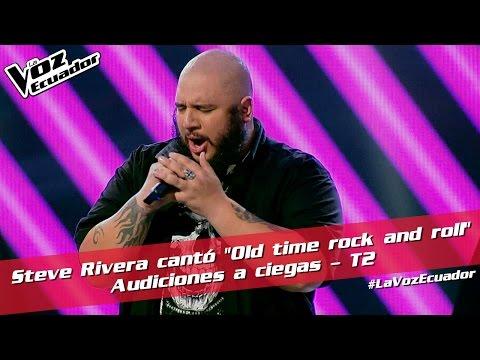 """Steve Rivera cantó """"Old time rock and roll"""" - Audiciones a ciegas - T2 - La Voz Ecuador"""