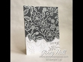 White heat embossing on gray paper using Stampin Up products with Jenny Hall