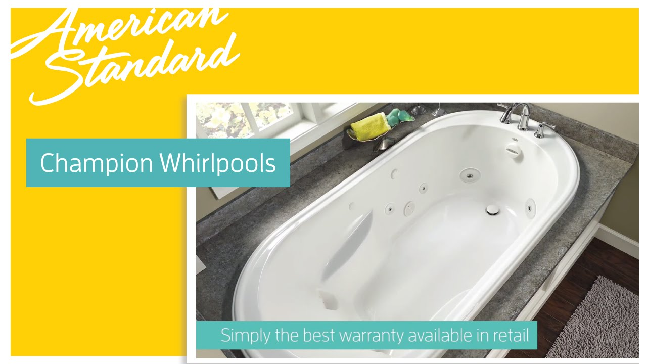 Champion Whirlpool Tubs by American Standard - YouTube
