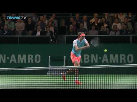 2017 Rotterdam Tennis Highlights: Dimitrov & Klizan 15 Feb