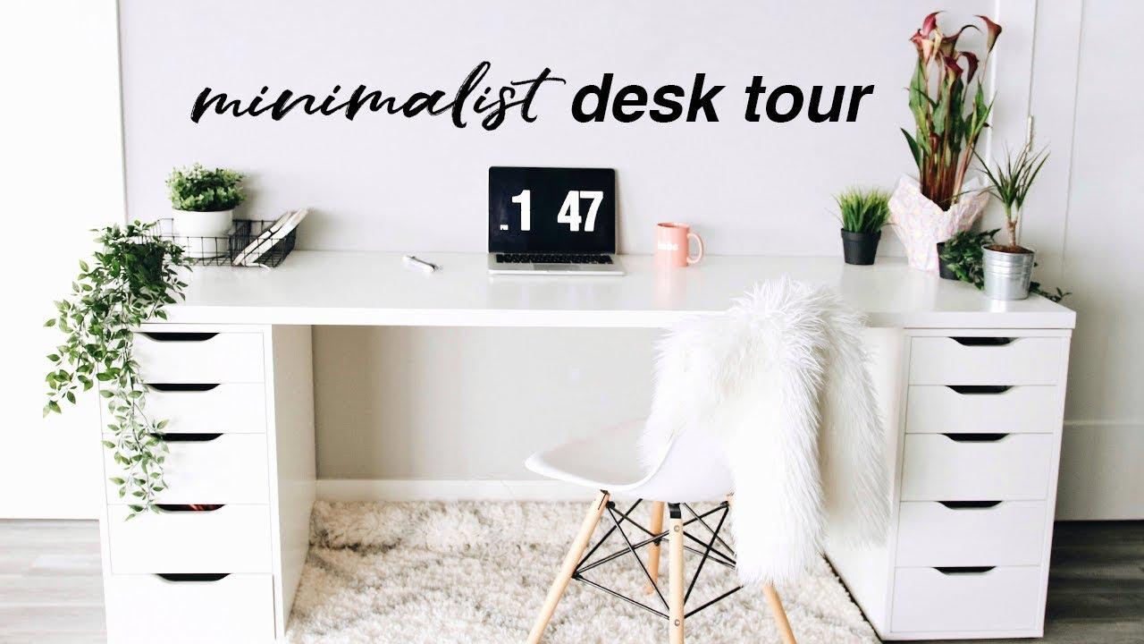 Attrayant Desk Tour + Workspace Organization | Minimalist