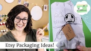 Etsy Packaging Ideas - How I package my Etsy orders + holiday shopping gift wrap hack!