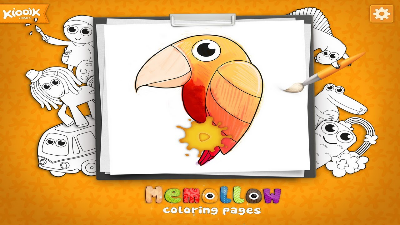 раскраски для детей Memollow развивающее видео для малышей