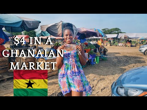 WHAT 4 DOLLARS CAN GET YOU IN A GHANA MARKET | IT CAN BE CHEAP TO LIVE HERE IN GHANA