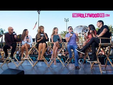 Heidi Klum, Simon Cowell, Tyra Banks, & Mel B Promote America's Got Talent At Universal Studios