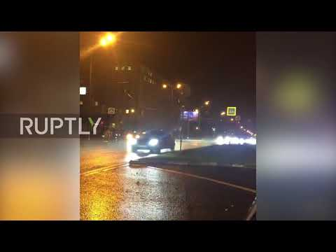 Russia: See Saudi king's huge motorcade racing through Moscow