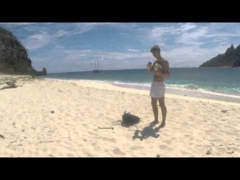 Castaway Island em Fiji. 360 landscape in Castaway Island, Fiji.