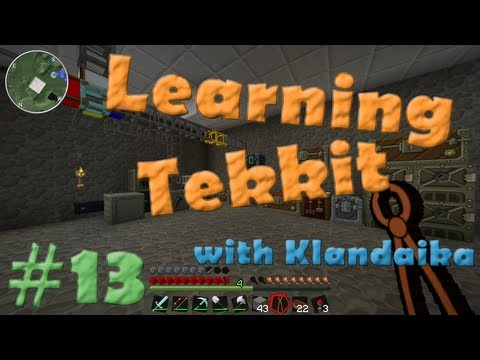 Learning Tekkit (S1E13) - Fast Mining with Destruction Catalyst