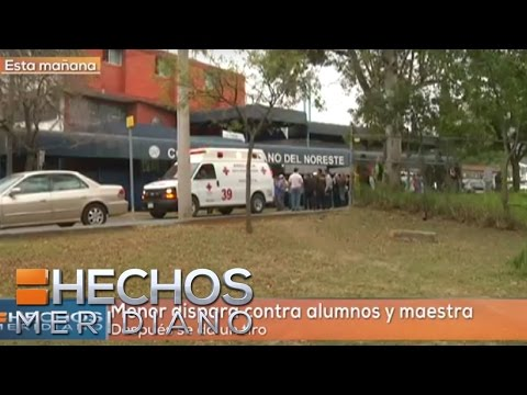 En Monterrey joven de 15 años disparó y mató a su maestra y compañeros de escuela