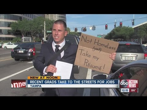 2 unemployed grads take unconventional approach to job search