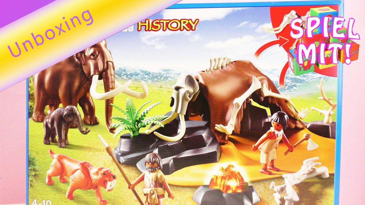 quite nice running shoes preview of Playmobil History 5087 | Steinzeitlager mit Feuer | mit Mammut und  Säbelzahntiger | Unboxing