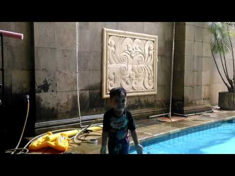 Swimming Timeeeeee..... Qahtan Halilintar - GENHALILINTAR 11 ANAK