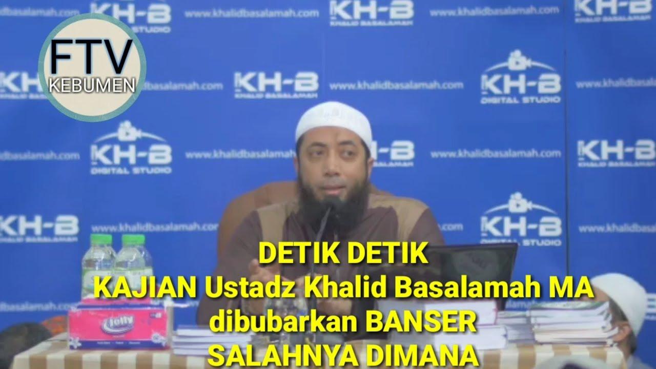 Detik-detik Kajian Ustadz Khalid Basalamah Dibubarkan Banser