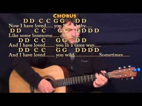 Seven Bridges Road (Eagles) Guitar Lesson Chord Chart with On-Screen Lyrics
