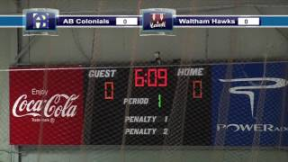 Acton Boxborough Varsity Boys Hockey @ Waltham 1/12/14
