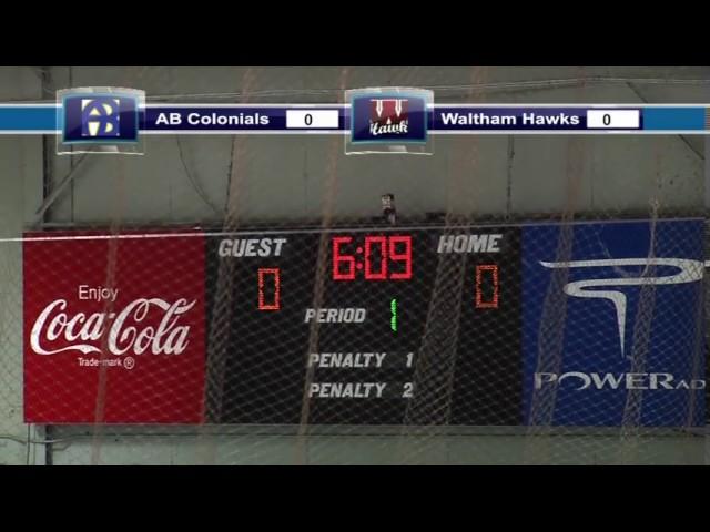 Acton Boxborough Varsity Boys Hockey @ Waltham 1/12/14