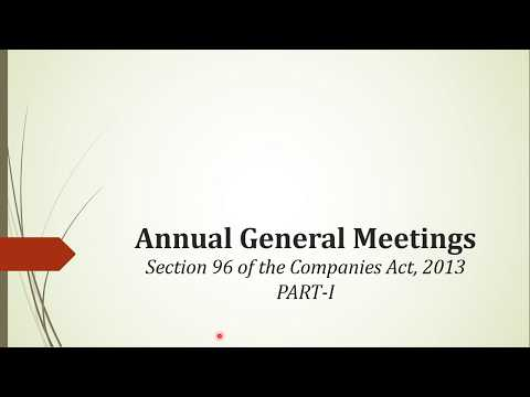 Annual General Meeting (PART I)- Explained by CS Harshita Kant