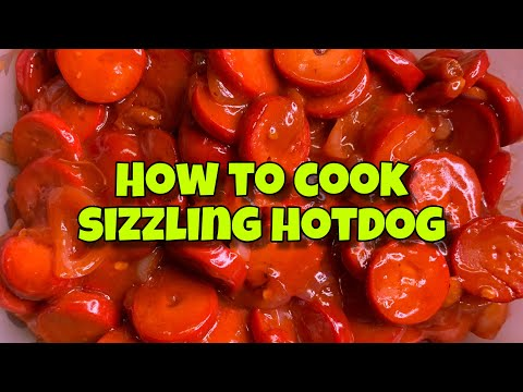 HOW TO COOK SIZZLING HOTDOG | Mia Beronilla