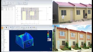 Philippines Low-cost Housing Design In Bentley Ram Elements