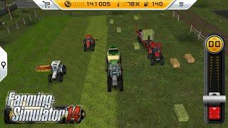 Fs14 farming simulator 14 - 4 traktörle çim biçmek - Lawn mowing with 4 tractors