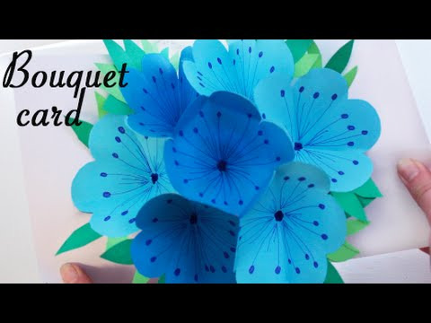 Bouquet pop-up card - DIY