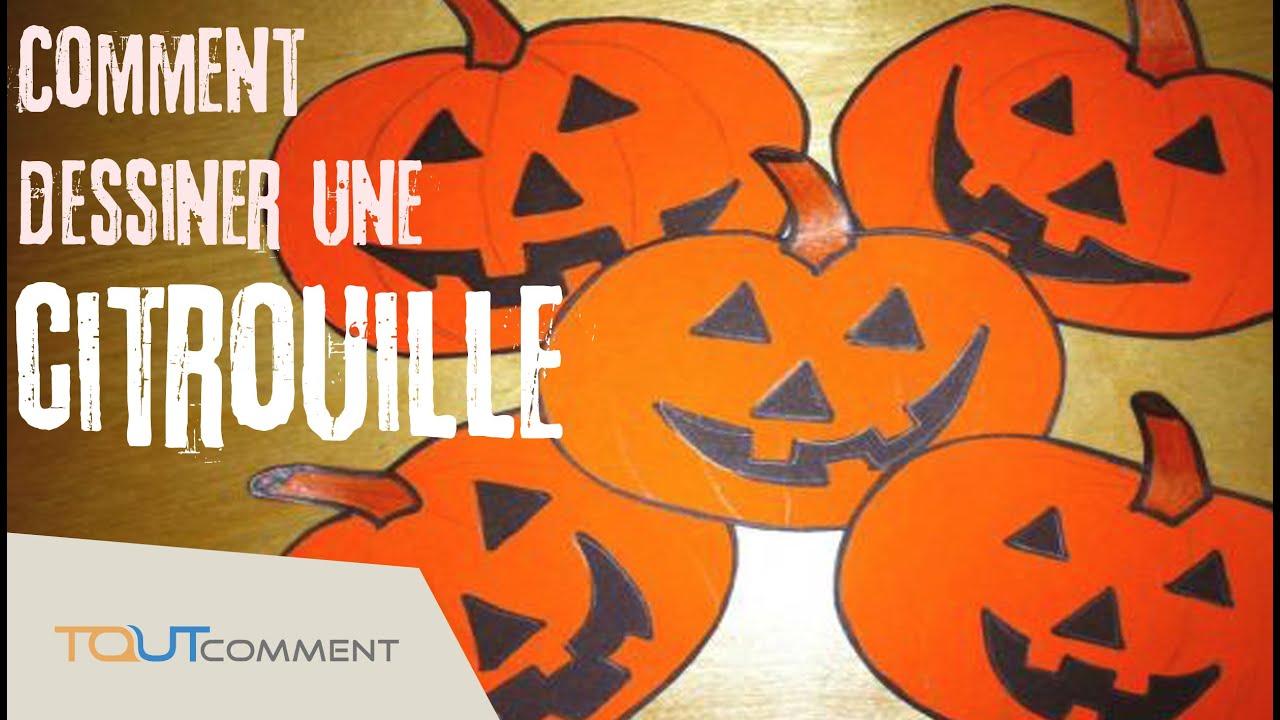 Dessiner une citrouille d coration halloween youtube - Citrouille a dessiner ...
