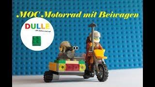 Lego MOC Motorrad mit Beiwagen