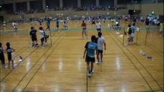 バドミントン 全日本シニア 宮城県予選 2011.07.24