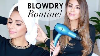 MY BLOW DRY ROUTINE! Sleek & Voluminous Hair | Annie Jaffrey