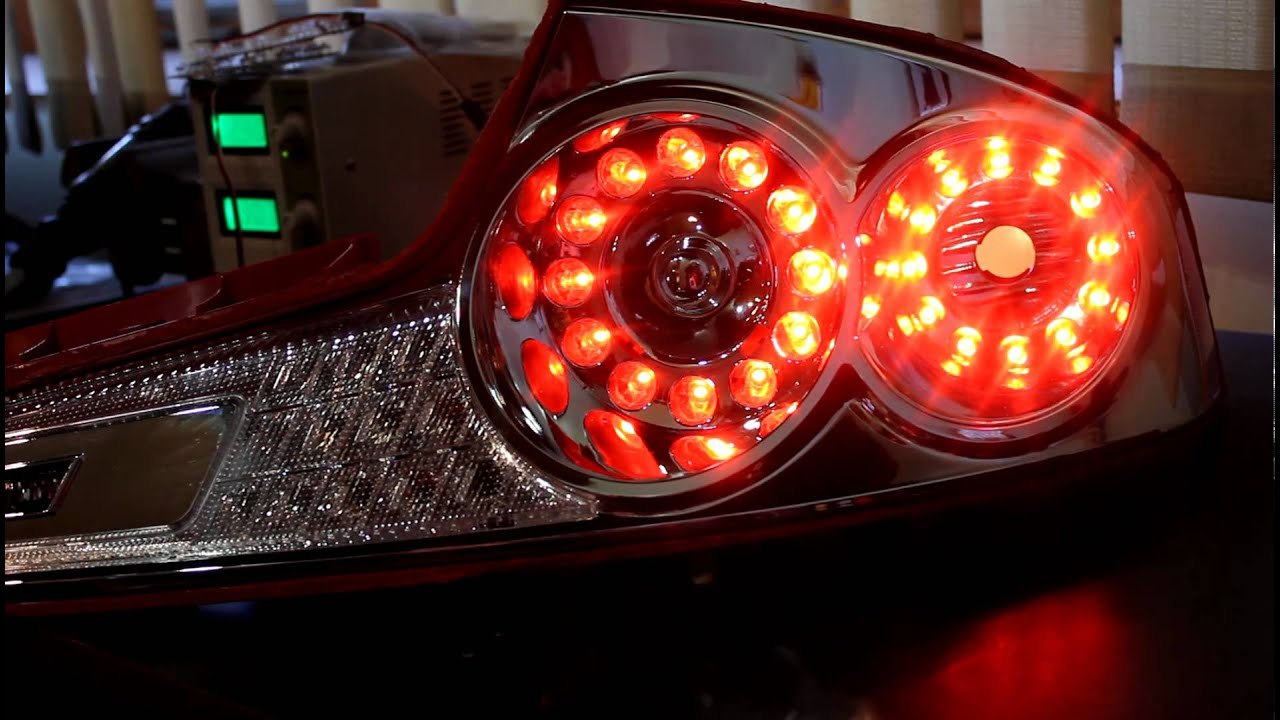 0307 G35 coupe dual ring LED tail lights with tri