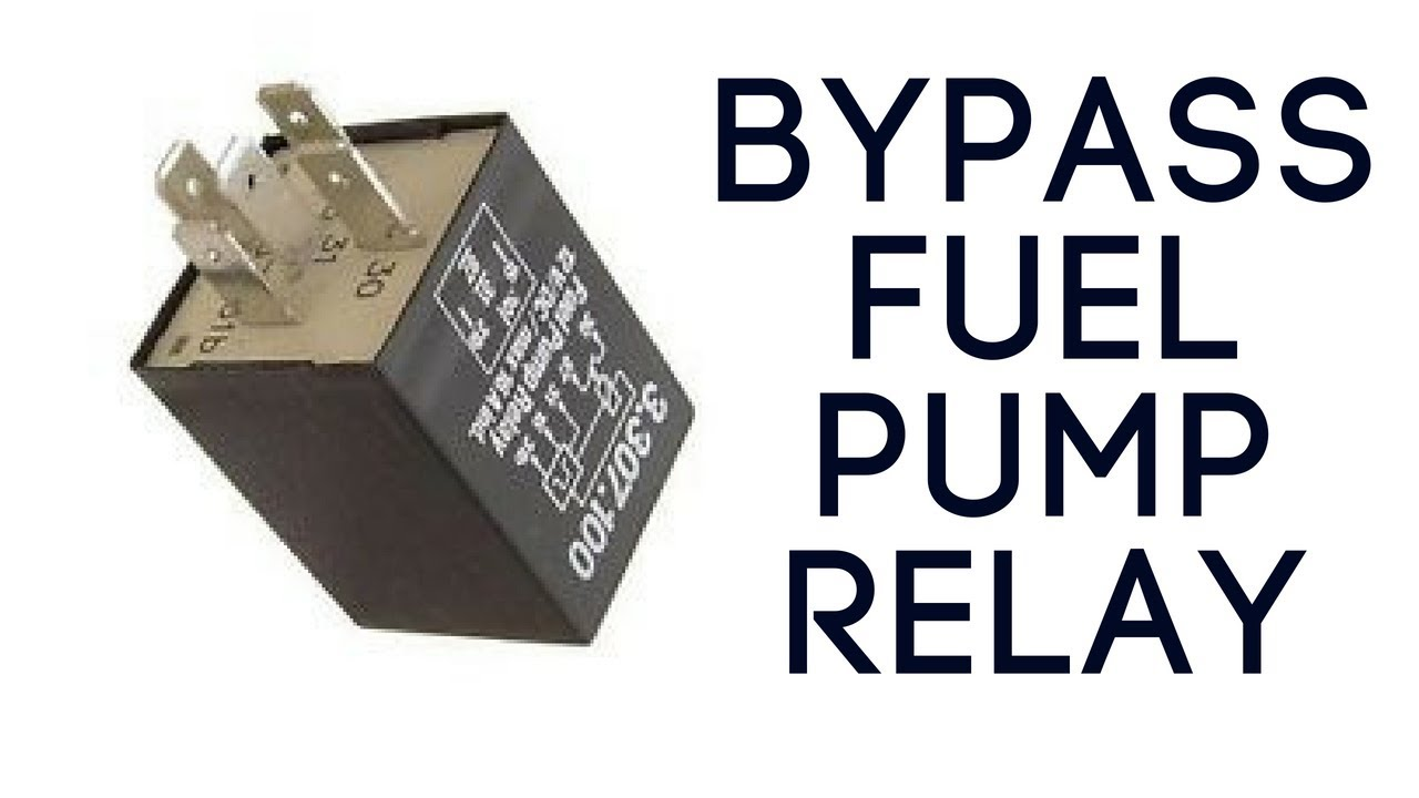 Bypass motorcycle fuel pump relay  YouTube