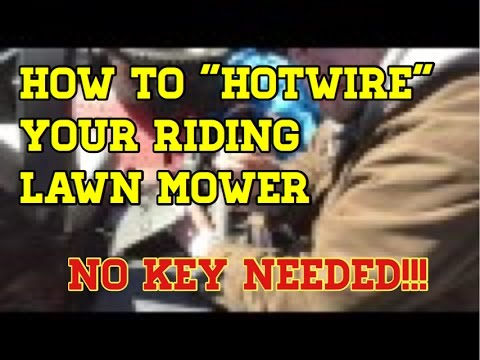 How to HotWire a riding Lawn Mower without a Key - YouTube