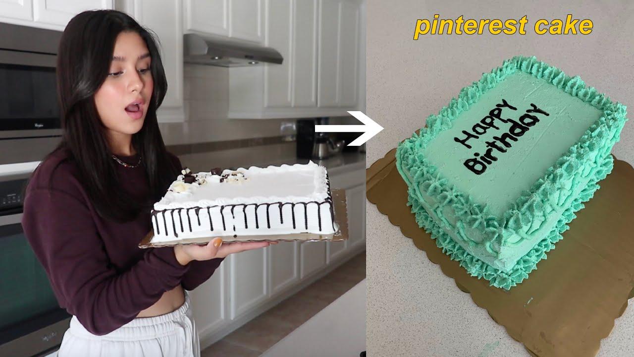Transformando un pastel del super en un pastel de Pinterest