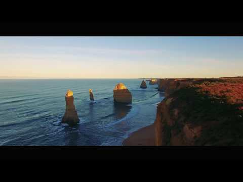 Awesome Drone flight over the 12 Apostles