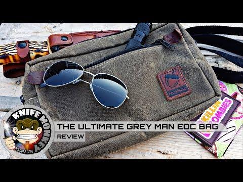 Nutsac Bags Man Bag Dammit Review. Ultimate EDC Grey Man Bag