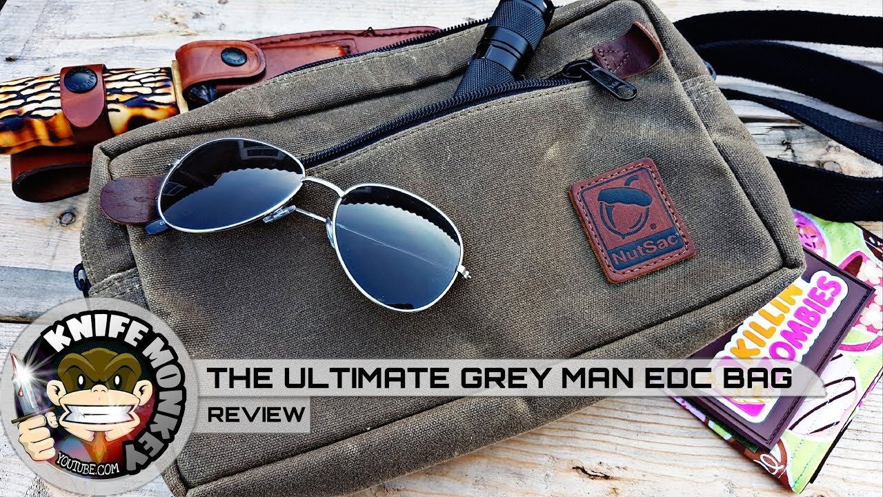 fe3a589359 Nutsac Bags Man Bag Dammit Review. Ultimate EDC Grey Man Bag - YouTube