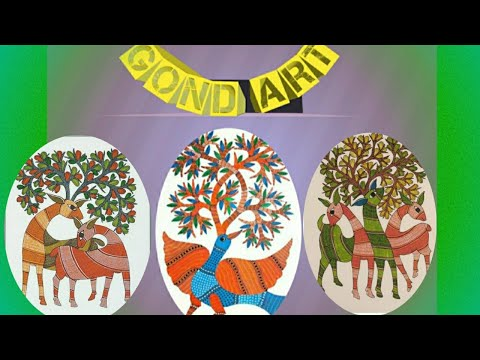 Gond Art Painting tutorial/Indian folk Art/Painting deers with poster colour