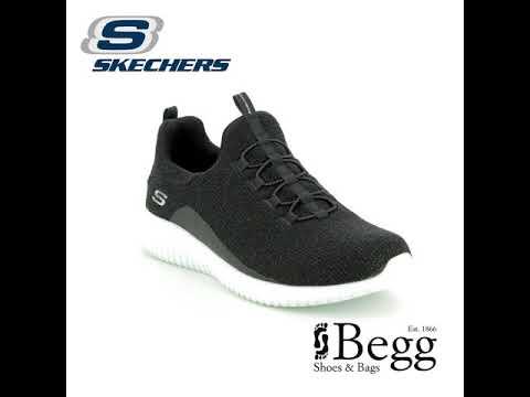 71e7f907c066 Skechers Ultra Flex 12830 BLK Black trainers - YouTube