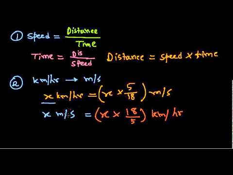 Time and distance formulas - Aptitude tutorials for IBPS,SSC,CAT,XMAT,RAIL,PO,GATE