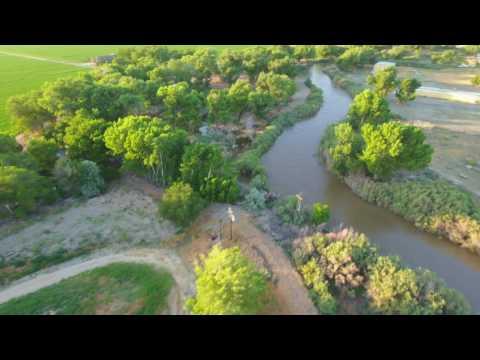 Yerington Walker River Fly By