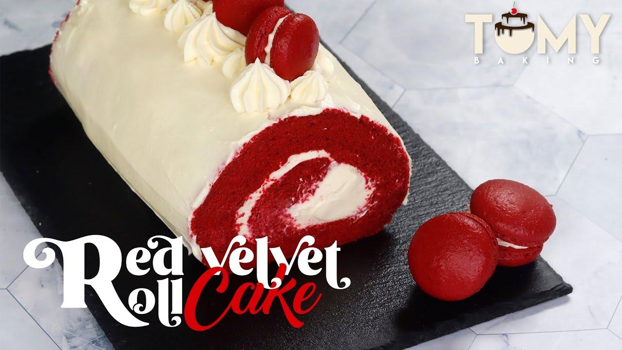 Red Velvet Roll Cake ❤️ || Tomy Baking「ASMR」
