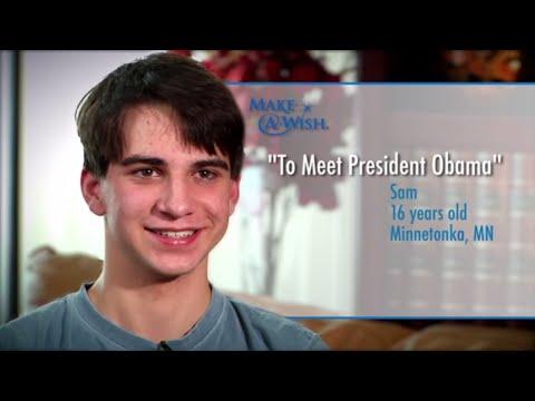 Sam's Wish To Meet President Barack Obama