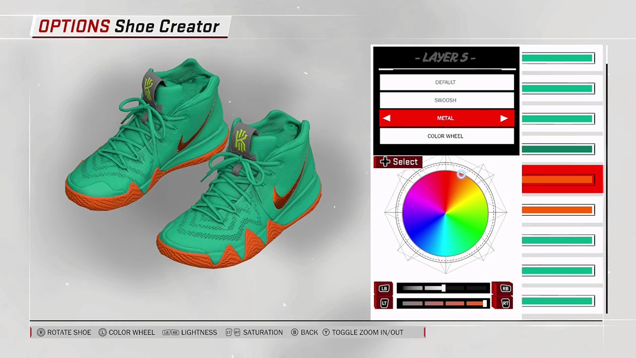 sports shoes 6255e 0f855 NBA 2K18 Shoe Creator - Nike Kyrie 4