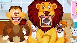 NEW Игры для детей—стоматолог для животных—мультик для девочек