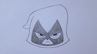 Como desenhar a Ravena de Os Jovens Titãs