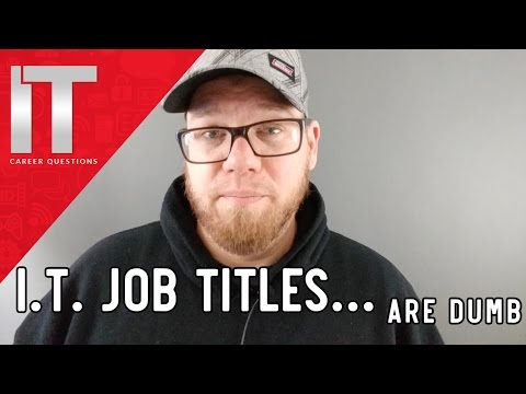 I.T. Job Titles are a Joke - Be Prepared to Do All of the Things