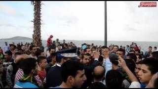 """احتجاج ل """"إلترا"""" فريق الهلال الناظوري أمام عمالة الناظور للمطالبة برحيل المكتب المسير"""